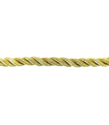 Braided Rayon Cord 5mm - Old Gold Color - Roll 20 meters