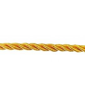Cordon en rayonne tressée 5 mm - Couleur jaune - rouleau de 20 mètres