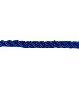 Cordon en rayonne tressée 5 mm - Couleur bleu - rouleau de 20 mètres