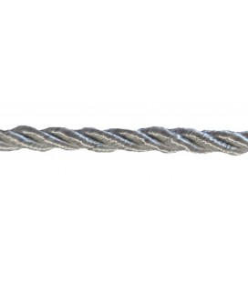 Braided Rayon Cord 5mm - Gray color - Roll 20 meters