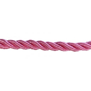 Braided Rayon Cord 5mm - Pink colour - Roll 20 meters