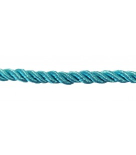 Braided Rayon Cord 5mm - Water green color - Roll 20 meters