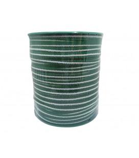 Goma 6 mm Mascarilla - Blanco y verde - 100 metros