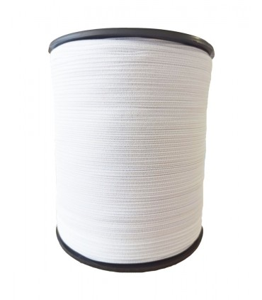 Confection rubber 5 mm - White color - 9500 meters