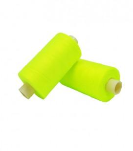 Hilo Poliester 1000m - Caja de 6 uds. - Color amarillo flúor
