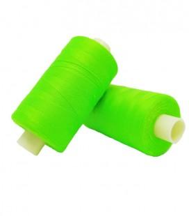 Hilo Poliester 1000m - Caja de 6 uds. - Color verde flúor