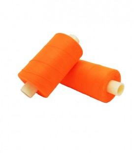 Polyester thread 1000m - Box of 6 pcs. - Fluor orange color
