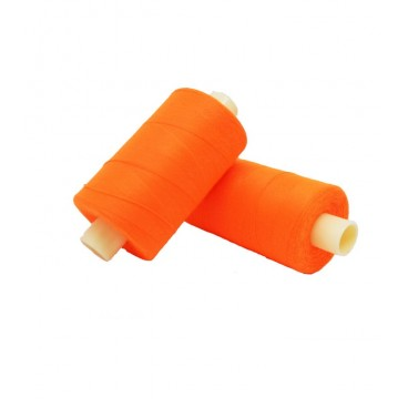 Polyester thread 1000m - Box of 6 pcs. - Fluor orange color