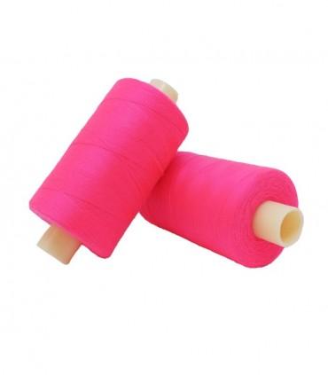 Polyester thread 1000m - Box of 6 pcs. - Fluorescent fuchsia color