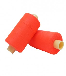 Polyester thread 1000m - Box of 6 pcs. - Fluor pink color
