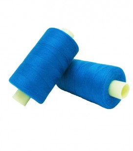 Polyester thread 1000m - Box of 6 pcs. - Medium blue color