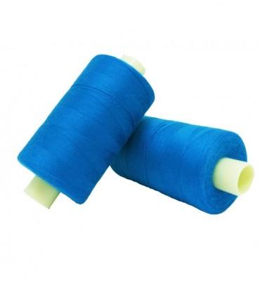 Polyester thread 1000m - Box of 6 pcs. - Medium blue color