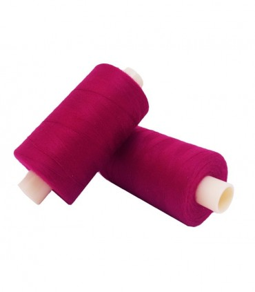 Polyester thread 1000m - Box of 6 pcs. - Currant color