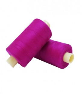 Polyester thread 1000m - Box of 6 pcs. - Magenta color