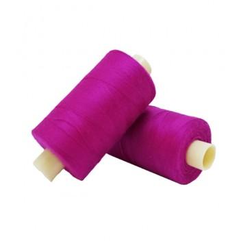 Polyester thread 1000m - Box of 6 pcs. - Magenta color