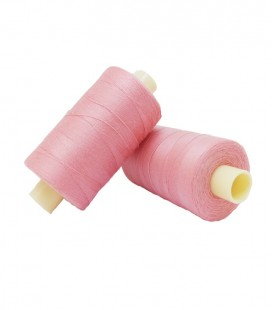 Polyester thread 1000m - Box of 6 pcs. - Salmon color