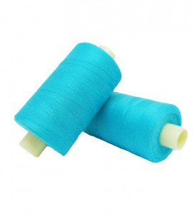 Polyester thread 1000m - Box of 6 pcs. - Turquoise Color