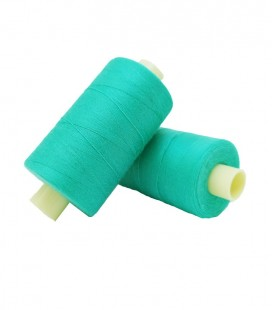 Polyester thread 1000m - Box of 6 pcs. - Water green color
