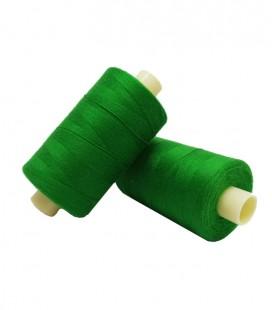 Fil polyester 1000m - Boîte de 6 pièces - Couleur vert herbe