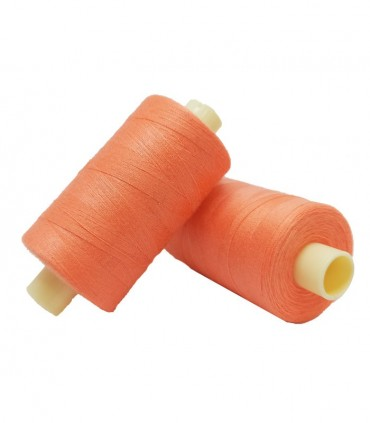 Polyester thread 1000m - Box of 6 pcs. - Green Grass color