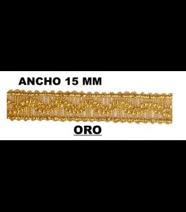 Pasamanería (Ancho 15mm) - Pieza 50 mts.