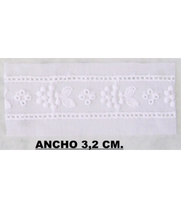 Embroidered strip 6632