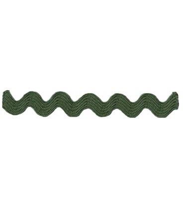 Ondulina Ric Rac - Rollo 50 metros - Color Verde Caqui