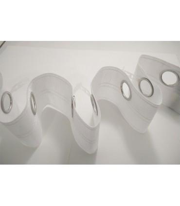 Medium Knopfloch Gardinenband 22mm - Rolle 50 Meter (2 Farben)