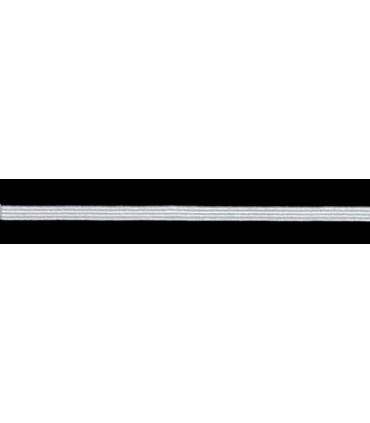 Goma Trenza Elástica - 4mm - Rollo 100 metros - Color Blanco o negro