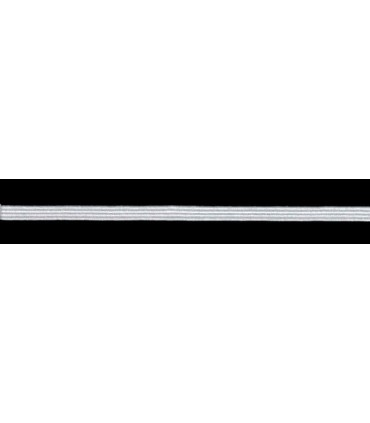 Rubber Braid Elastic - 4mm - Roll 100 meters - Color White or black