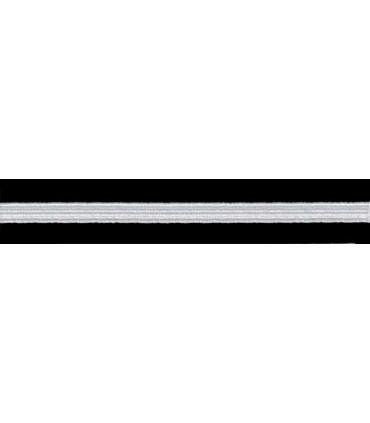 Goma Trenza Elástica - 6mm - Rollo 100 metros - Color blanco o negro