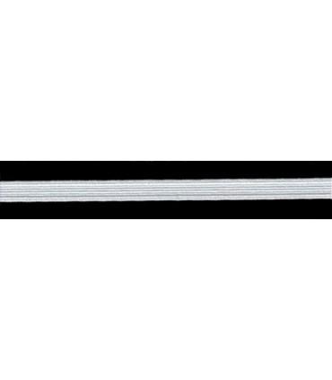 Goma Trenza Elástica - 8mm - Rollo 100 metros - Color blanco o negro