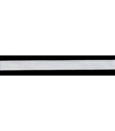Goma Trenza Elástica - 12mm - Rollo 100 metros - Color blanco o negro