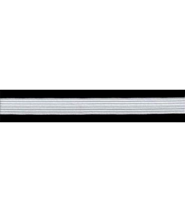 Rubber Braid Elastic - 14mm - Roll in 100 - White or black color