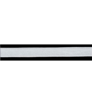Elastic Braid Rubber - 20mm - Roll in 100 - White or black color