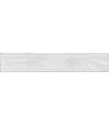 Goma Trenza Elástica - 30mm - Rollo 50 metros - Color blanco o negro