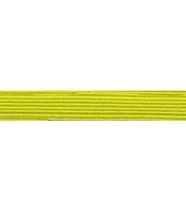 Goma Trenza Elástica - 8mm - Color Amarillo - Rollo 100 metros