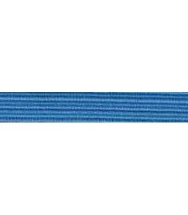 Goma Trenza Elástica - 8mm - Color Azul Claro - Rollo 100 metros