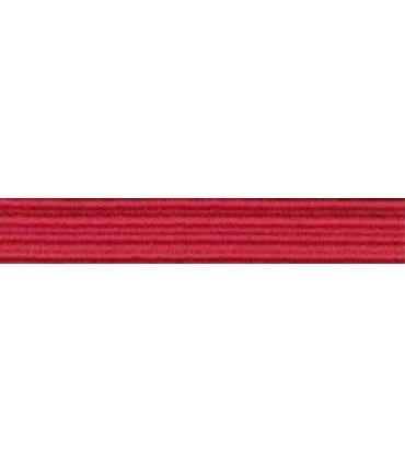 Goma Trenza Elástica - 8mm - Color Rojo - Rollo 100 metros