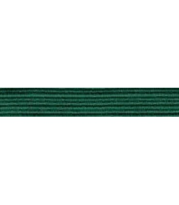 Elastic Braid Rubber - 6mm - Color Emerald Green - Roll 100 meters