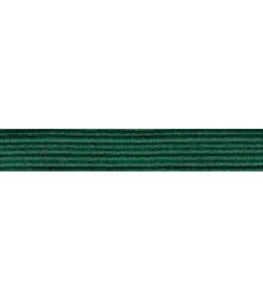 Goma Trenza Elástica - 8mm - Color Verde Esmeralda - Rollo 100 metros
