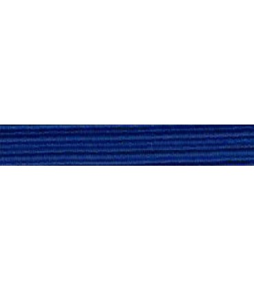 Elastic Braid Rubber - 6mm - Color Electric Blue - Roll 100 meters