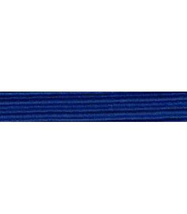Goma Trenza Elástica - 8mm - Color Azul Eléctrico - Rollo 100 metros