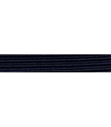 Goma Trenza Elástica - 8mm - Azul Marino - Rollo 100 metros