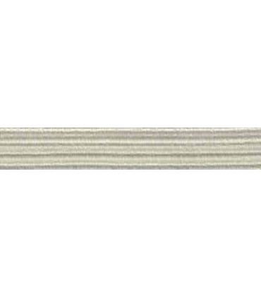 Elastic Braid Rubber - 6mm - Light Beige - Roll 100 meters