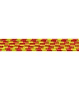 Elastic Braid Rubber - 6mm - Color Yellow / Orange - Roll 100 meters