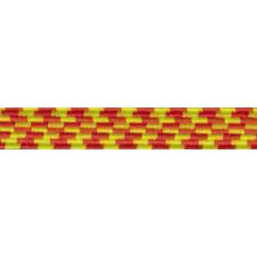 Goma Trenza Elástica - 25mm - Color Amarillo/Naranja