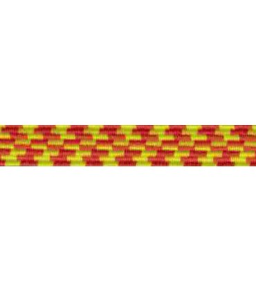 Elastic Braid Rubber - 6mm - Color Yellow / Orange - Roll 100 meters