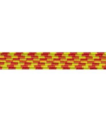 Goma Trenza Elástica - 8mm - Color Amarillo/Naranja - Rollo 100 metros