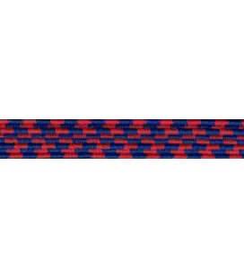 Goma Trenza Elástica - 8mm - Color Azul/Rojo - Rollo 100 metros